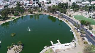 Download Los Angeles via Drone - MacArthur Park Video