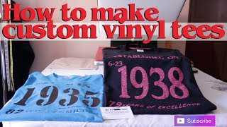 Download MAKING CUSTOM T SHIRTS WITH HEAT VINYL TRANSFER Video