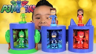 Download PJ Masks Transforming Headquarters Toys With Greg Connor Amaya Catboy Gekko Owlette Ckn Toys Video