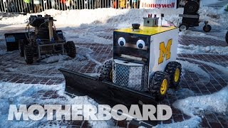 Download Battle of the Autonomous Snow Bots Video