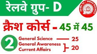 Download Railway Group D क्रैश कोर्स - 2nd video | General Science, General awareness and Current Affairs Video