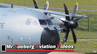 Download Very Nice ENGINE STARTUP and DEPARTURE, A400M, 54-01, German AF Video