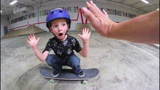 Download 5 Year Old Skater LANDS HIS FIRST OLLIE! Video