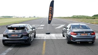 Download DRAG RACE! BMW M2 VS MERCEDES A45 AMG! Video