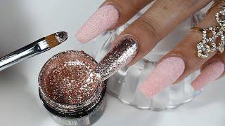 Download uñas acrilicas con efecto terciopelo 100% real con toques en rose gold Video