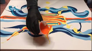 Download Fluid Painting ACRYLIC PAINT BLOW OUT? Wigglz Art A Must See!! Easy Beginners Technique!! HUGE CELLS Video