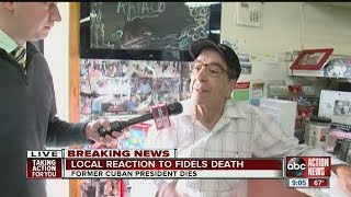 Download Tampa Cubans react to Fidel Castro's death Video