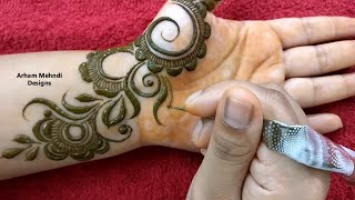 Download New Stylish Mehndi Design for Front Hand || Easy Simple Mehndi Design || Arham Mehndi Designs Video