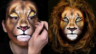 Download Lion Makeup & Face Painting Tutorial Video