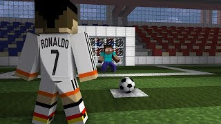 Download Monster School: Penalty Shoots (ft. Cristiano Ronaldo) - Minecraft Animation Video
