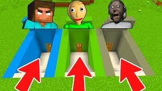 Download DO NOT CHOOSE THE WRONG SECRET BASE IN MINECRAFT PE! (Herobrine, Baldi, Granny) Video