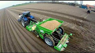 Download Potato Planting | New Holland T7070 Blue Power + Miedema Structural belt planter Loonbedrijf Breure Video