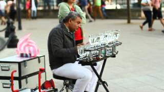 Download Popcorn song : Music with glasses by A Street performer Video