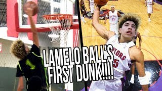 Download LaMelo Ball's FIRST DUNK Starts CRAZY SEQUENCE! Big Ballers vs Los Angeles Elite FULL HIGHLIGHTS Video