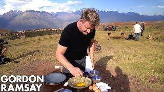 Download Gordon Ramsay Makes Alpaca Scrambled Eggs in Peru | Scrambled Video