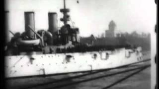 Download U.S. cruiser ″Olympia″ leading naval parade Video