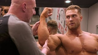 Download Bodybuilding posing instruction with IFBB pro Chris Bumstead and IFBB head judge Steve Weinberg Video