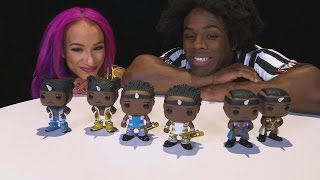 Download Sasha Banks gets hands-on with Funko Pop! The New Day vinyl figures Video