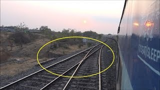 Download Rarest Of Rare ! The LAST EXISTING Scissors Crossing Of Indian Railways !!! Video