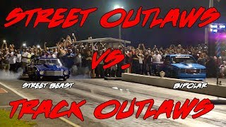 Download STREET OUTLAWS VS TRACK OUTLAWS! STREET OUTLAWS DOC STREET BEAST VS ANDY MAC BIPOLAR!! Video