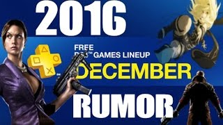 Download PS PLUS DECEMBER 2016 RUMOR PS4 GAMES Video
