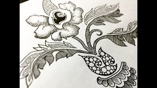 Download Highspeed botanical drawing/zentangle #8 Video