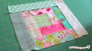 Download Log Cabin Quilt Block Tutorial Video