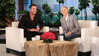 Download Ellen's Hot Guys: Chris Hemsworth Speaks Some Strange Languages Video