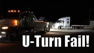 Download Tractor Trailer U Turn Fail | Gets Stuck! Video