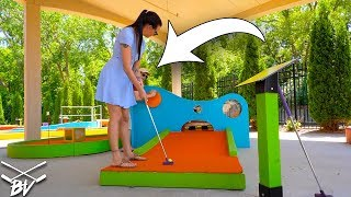 Download I HAVE NEVER SEEN A MINI GOLF HOLE LET YOU DO THIS! + DOUBLE HOLE IN ONE! Video