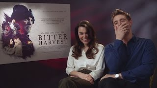 Download Bitter Harvest: Max Irons & Samantha Barks talk superstitions and creepy confessions Video