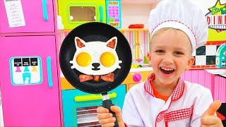 Download Vlad und Nikita kochen Frühstück für Mama Video