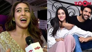 Download Sara Ali Khan says she won't mind a 3-way date with Kartik Aaryan & Ananya Panday | Exclusive Video