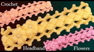 Download Diadema a Crochet con flor muy fácil de tejer estilo Irlandés tejido tallermanualperu Video
