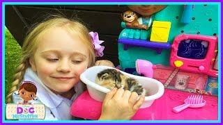 Download Baby Kitten Checkup Doc Mcstuffins Vet Clinic Center Real Life Cute Baby Kittens W/ Play Doh Girl Video