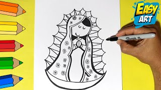 Download Como Dibujar la Virgen de Guadalupe - How to Draw a Virgin of Guadalupe Video
