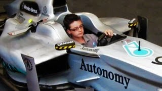 Download Kid controlling an F1 Car!!! [Watch in HD] Video