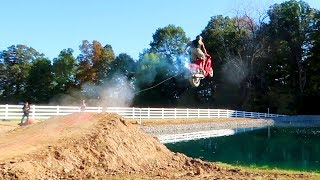 Download OVER THE POND!! Street Bike Jump Video