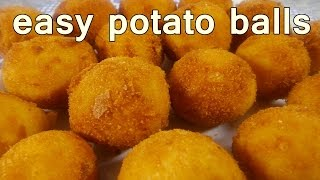 Download FRIED POTATO BALLS - Tasty and Easy Food Recipes For Dinner to make at home - Cooking videos Video