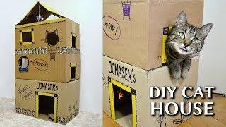 Download EPIC cardboard cat house DIY Video