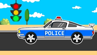 Download Racing Cars The Police Car Kids | Cars, Trucks and Emergency Vehicles for Kids Video