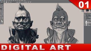Download 01 - Digital Art Painting [Tutorial] Basics and Talk Video