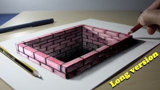 Download 3D Trick Art on Paper Brick hole Long version Video