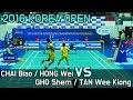 Download [Nup badminton](직캠)Victor Korea Open 2016 MD CHAI/HONG vs GOH/TAN Video
