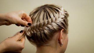 Download Прическа из косичек ″Корзинка″. Hairstyle of braids Video