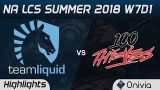 Download TL vs 100 Highlights NA LCS Summer 2018 W7D1 Team Liquid vs 100Thieves by Onivia Video