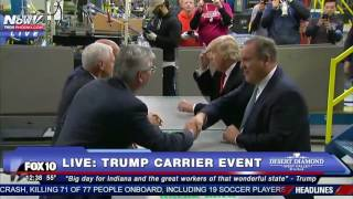 Download NEWS NOW EXCLUSIVE: Donald Trump Tours Carrier Facility Before Speech Video