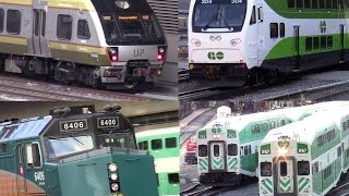 Download GO Transit / UP Express /VIA Rail / AMTRAK at Union Station Toronto rush hour Oct 15 2015 Video