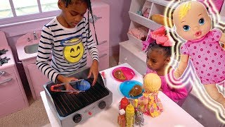 Download Baby Doll Pink Kitchen & Play Food Refrigerator ! Johny Johny Yes Papa Song Video