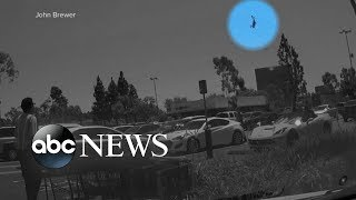 Download New images show plane nose-diving into parking lot Video